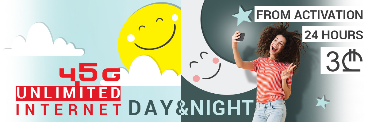 Unlimited internet day and night